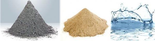 песок цемент вода для растовра