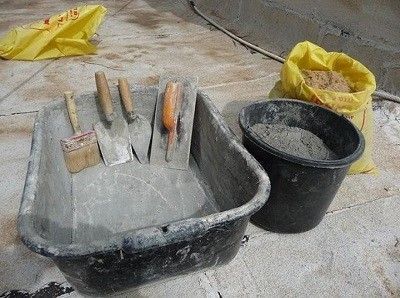 приготовление раствора для кирпича